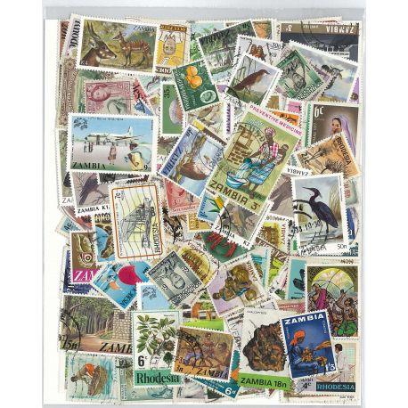 Rhodesie Sambia - 25 verschiedene Briefmarken