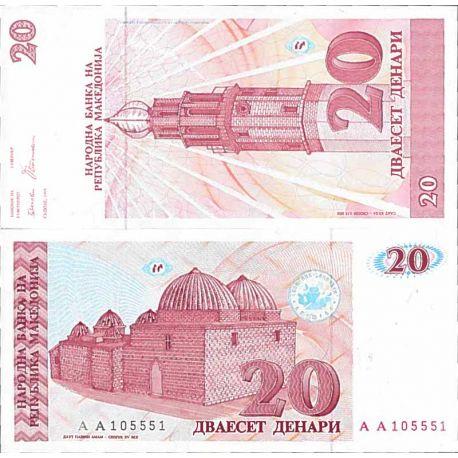 Billets de collection Billet de banque collection Macedoine - PK N° 10 - 20 Denari Billets de Macedoine 15,00 €