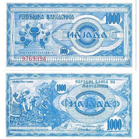 Billets de collection Billet de banque collection Macedoine - PK N° 6 - 1000 Denari Billets de Macedoine 17,00 €