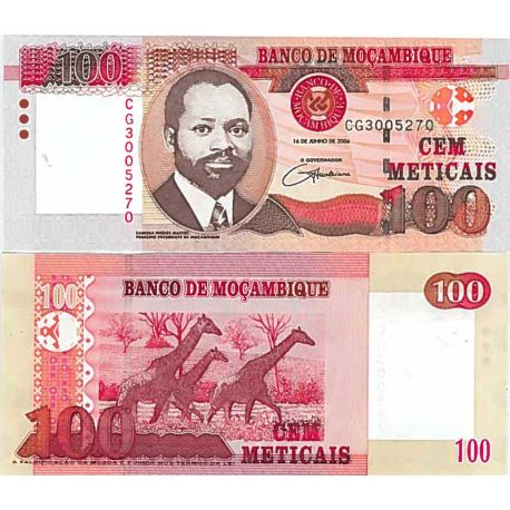 Billete de banco colección Mozambique - PK N° 145 - 100 Meticais