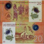 Billete de banco colección Nicaragua - PK N° 210 - 20 Cordobas