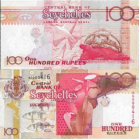 Billet de banque collection Seychelles - PK N° 40 - 100 Ruppes