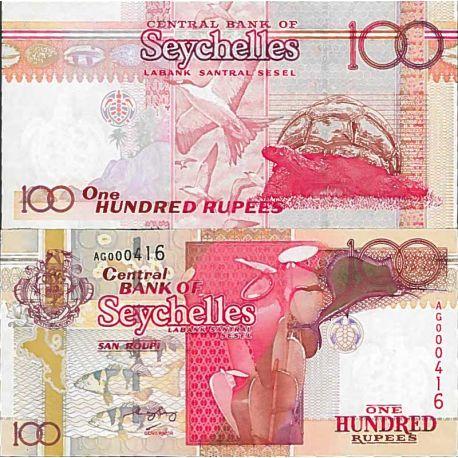 Billete de banco colección Seychelles - PK N° 40 - 100 Ruppes
