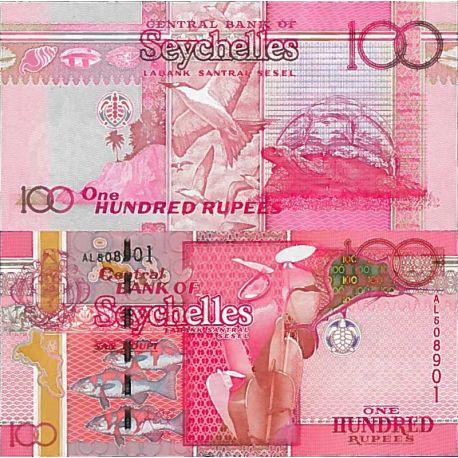 Billete de banco colección Seychelles - PK N° 999 - 100 Ruppes