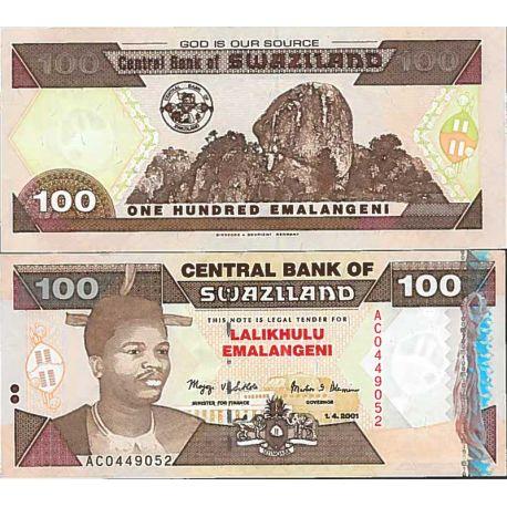 Billete de banco colección Suazilandia - PK N° 39 - 100 Lilangeni