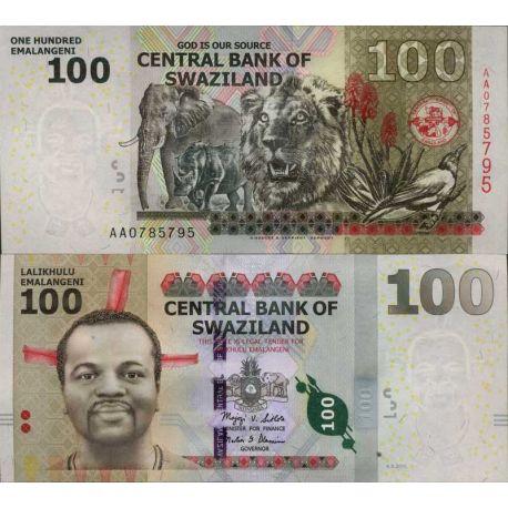 Billete de banco colección Suazilandia - PK N° 999 - 100 Lilangeni