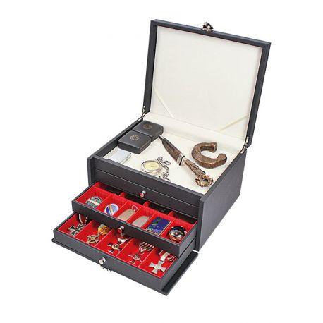 Caja Lindner Madera Prestigio para monedas de colección