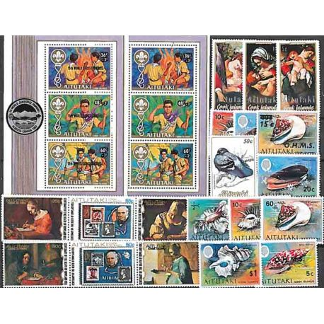 25 nuevos sellos de Aitutaki