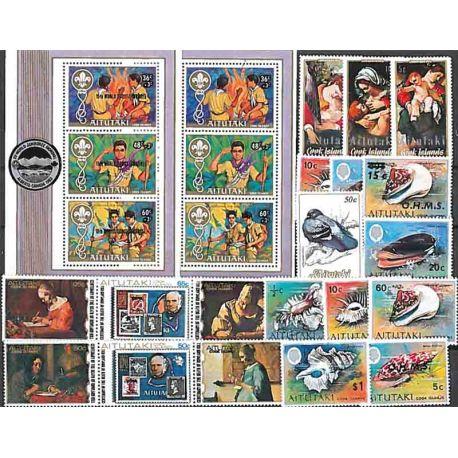 25 timbres neufs d'Aitutaki