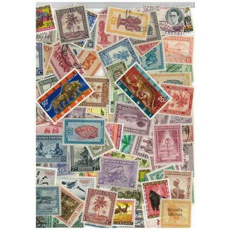Ruanda-Urundi - 25 verschiedene Briefmarken
