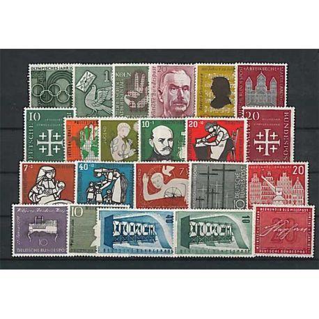 Año completo Sellos nuevos sin charnela 1960 de Alemania RFA