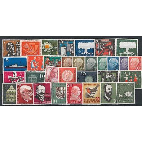 Komplettes Jahr 1961 Postfrisch Breifmarken Deutschlands BRD