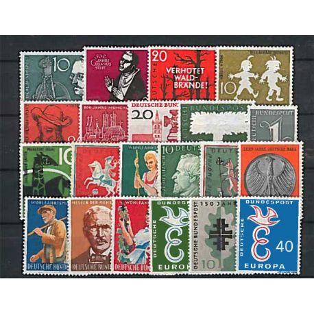 Año completo Sellos nuevos sin charnela 1961 de Alemania RFA