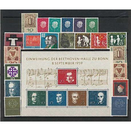 Francobolli nuovo non linguellato Anno completo 1962 della Germania RFG