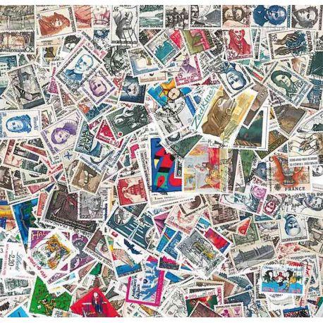 Collection de timbres France oblitérés Grand Format