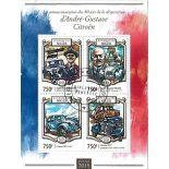 Bloc de 4 timbres André Citroën du Niger
