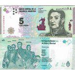 Billet de banque collection Argentine - PK N° 359 - 5 Pesos