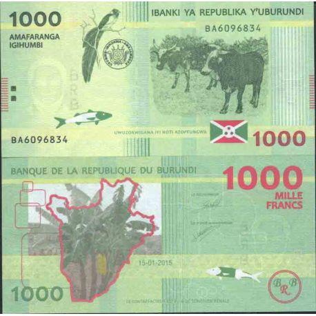 Billete de banco colección Burundi - PK N° 999 - 1.000 Francos