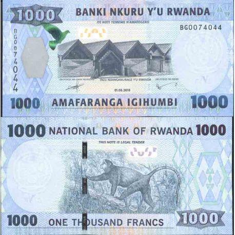 Billete de banco colección Ruanda - PK N° 999 - 1.000 Francos