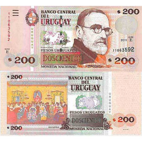 Banknote Uruguay collection - Pick N° 89 - 200 Pesos