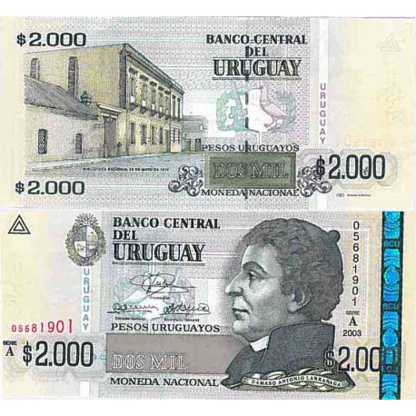 Billet de banque collection Uruguay - PK N° 92 - 200 Pesos