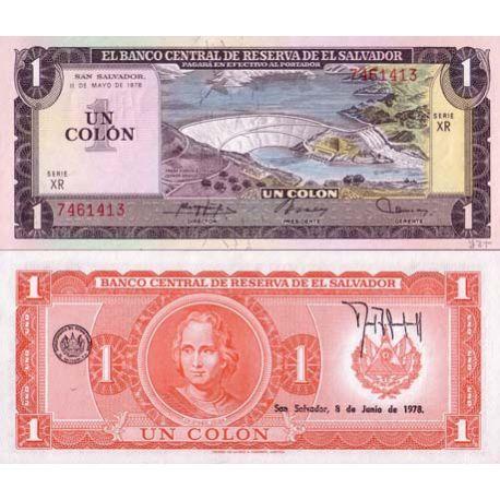 Banknote El Salvador collection - Pick N° 125 - 1 COLONIST
