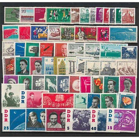Año completo Sellos nuevos sin charnela 1961 de Alemania RDA