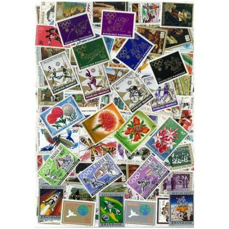 Ruanda - 50 verschiedene Briefmarken