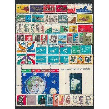 Francobolli nuovo non linguellato Anno completo 1962 della Germania GDR
