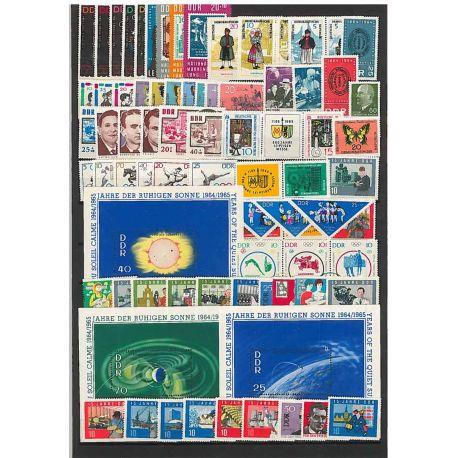 Francobolli nuovo non linguellato Anno completo 1964 della Germania GDR