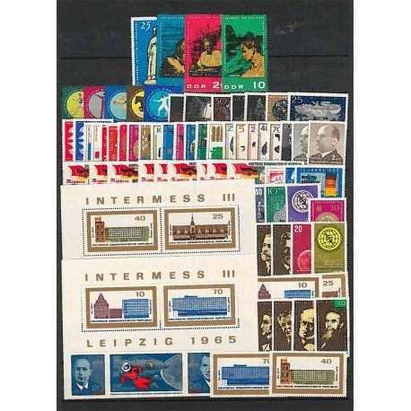 Komplettes Jahr 1965 Postfrisch Breifmarken Deutschlands DDR
