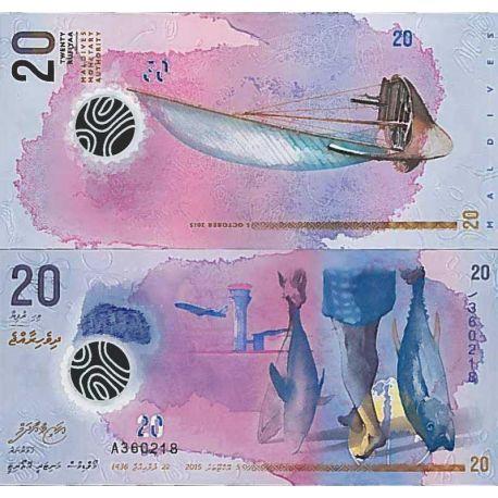 Banconote collezione Maldive - PK N° 999 - 20 Rufiyaa