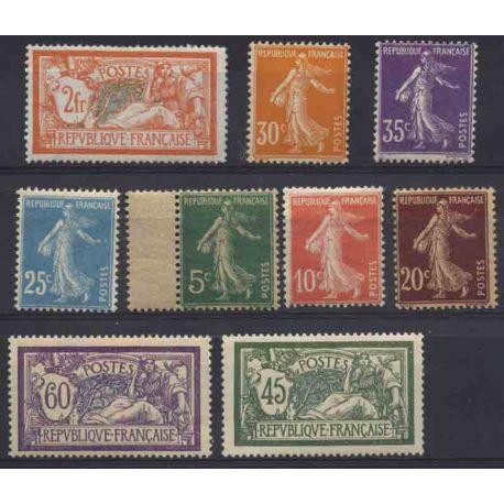 France Année 1907 Complète timbres neufs