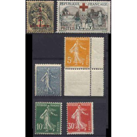 Francia anno completo 1918.21 Nuovo non linguellato Francobolli