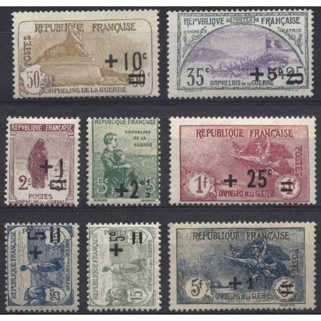 France Année 1922 Complète timbres neufs