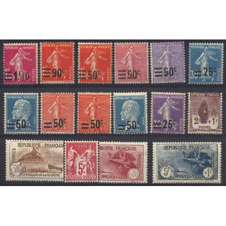 Francia anno completo 1925.26 Nuovo non linguellato Francobolli