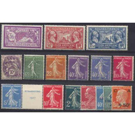France Année 1927 Complète timbres neufs