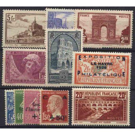 France Année 1929 Complète timbres neufs