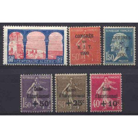 France Année 1930 Complète timbres neufs