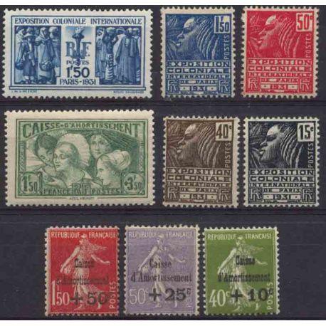 France Année 1931 Complète timbres neufs
