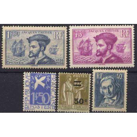 France Année 1934 Complète timbres neufs