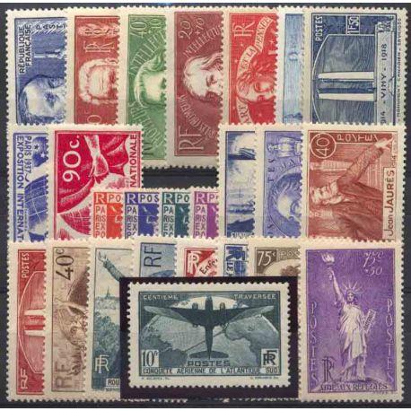 Francia anno completo 1936 Nuovo non linguellato Francobolli