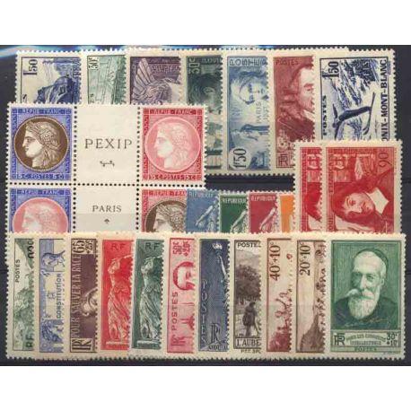 France Année 1937 Complète timbres neufs