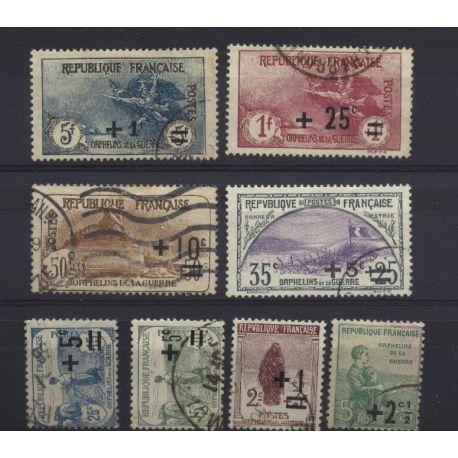 Francia anno completo 1922 francobolli annullati