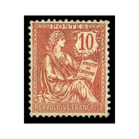 Francobolli francesi N ° 124 nuovo con cerniera