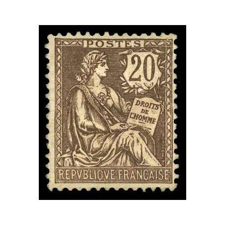 Francobolli francesi N ° 126 nuovo con cerniera