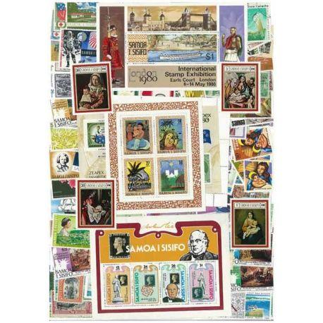 Samoa - 25 verschiedene Briefmarken