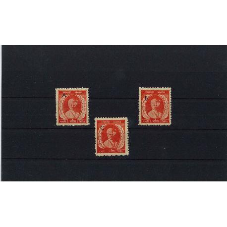 Sangli - 3 verschiedene Briefmarken