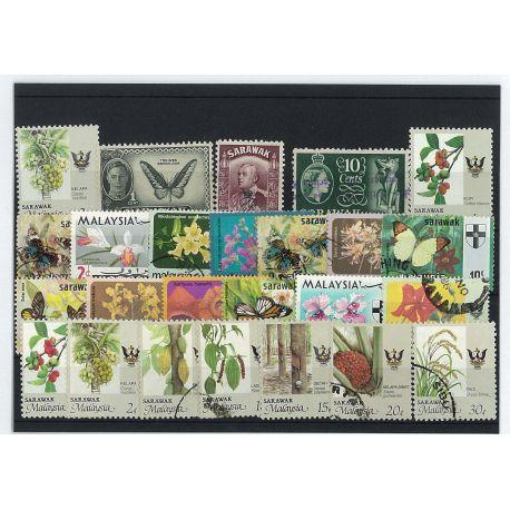 Sarawak - 10 verschiedene Briefmarken