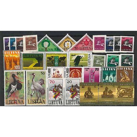 Lituania Año 1991 completa, nuevos sellos sin bisagra